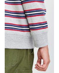 Obey | Gray Bertram Stripe Sweatshirt for Men | Lyst