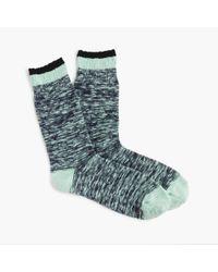 J.Crew - Green Marled Tipped Socks - Lyst