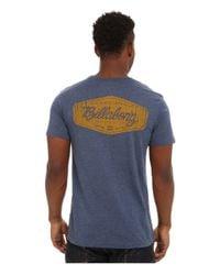 Billabong - Blue Oxford Short Sleeve T-shirt for Men - Lyst