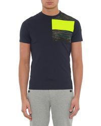 Moncler | Blue Maglia Contrast-patch Jersey T-shirt for Men | Lyst