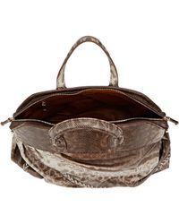Zagliani - Brown Python Bag - Lyst