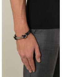Ferragamo - Black Gancini Bracelet for Men - Lyst
