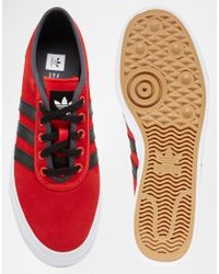 Adidas Originals | Red Adi-ease Canvas Trainers D68897 for Men | Lyst
