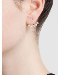 Yvonne Léon | 18Kt White Gold Mini Pearl Lobe Earring | Lyst