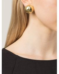 Vaubel | Metallic Swirl Center Round Clip Earrings | Lyst
