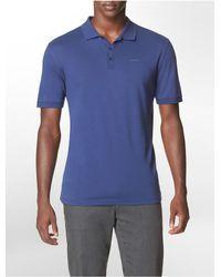 Calvin Klein - Blue Classic Fit Liquid Cotton Polo Shirt for Men - Lyst