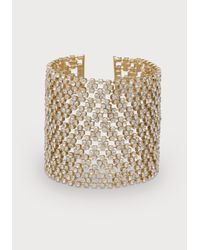 Bebe | Metallic Crystal Clasp Bracelet | Lyst