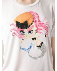 DSquared² | White Punk Mermaid T-Shirt | Lyst