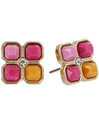 Vera Bradley | Pink Colorful Gem Earrings | Lyst
