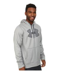 Under Armour | Gray Ua Storm Armour® Fleece Big Logo Hoodie for Men | Lyst