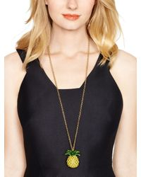 kate spade new york - Yellow Any Way You Slice It Pendant - Lyst