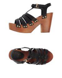 Colors Of California   Black Sandals   Lyst