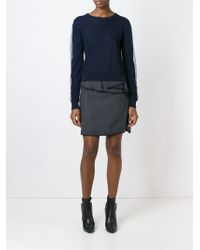 KENZO - Gray Layered A-line Skirt - Lyst