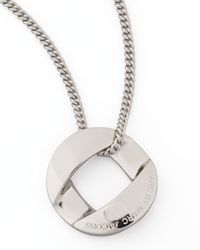 Marc By Marc Jacobs - Metallic Cable Linkpendant Necklace Silvertone - Lyst