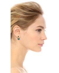 Noir Jewelry - Green Sphere Front To Back Earrings - Gold/malachite - Lyst