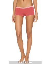 Calvin Klein - Pink Pure Seamless Boy Shorts - Lyst