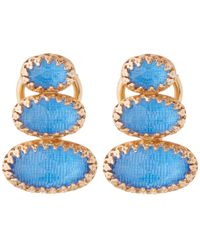 Larkspur & Hawk | Blue Topaz Tessa Climbing Earrings | Lyst