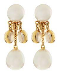 Assael - 18k White South Sea Pearl Moonstone Earrings - Lyst