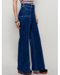 Free People - Blue Rock Steady Flare - Lyst