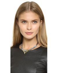 Iosselliani | Metallic Crystal Necklace | Lyst