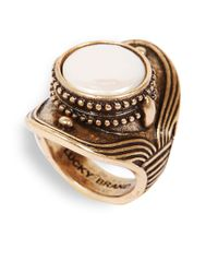 Lucky Brand | Metallic Goldtone And Coin Pearl Saddle Ring | Lyst