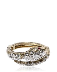 Roberto Cavalli | Metallic Snake Bracelet With Swarovski Crystals | Lyst