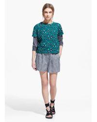 Mango | Blue Leopard Print T-Shirt | Lyst