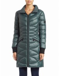 Bernardo | Blue Hooded Puffer Coat | Lyst