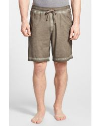 Daniel Buchler | Brown Powder Wash Peruvian Pima Cotton Shorts for Men | Lyst