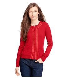Brooks Brothers | Red Merino Wool Cardigan | Lyst