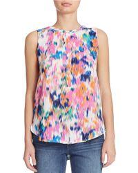 NYDJ | Multicolor Sleeveless Pocket Blouse | Lyst