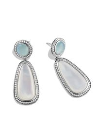 David Yurman - Metallic Milky Aquamarine & Diamonds - Lyst
