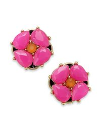 Kate Spade | Multicolor New York Goldtone Flower Stud Earrings | Lyst