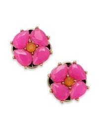 kate spade new york | Multicolor New York Goldtone Flower Stud Earrings | Lyst
