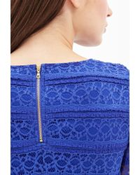Forever 21 - Blue Contemporary Ruffled Lace Sheath Dress You've Been Added To The Waitlist - Lyst