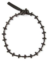 DSquared² - Black Crucifix Bracelet for Men - Lyst