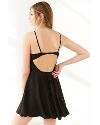 Silence + Noise - Black Noir Strappy-back Mini Dress - Lyst