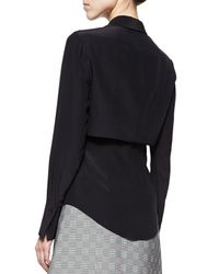 Alexander McQueen - Black Double-layered Button Blouse - Lyst