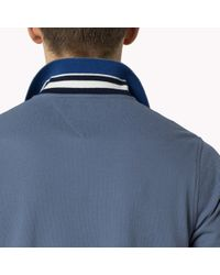 Tommy Hilfiger | Blue Cotton Pique Slim Fit Polo for Men | Lyst