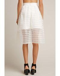 Forever 21 - White Tiger Mist Twist Midi Skirt - Lyst
