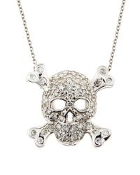 Roberto Coin | Metallic Skullandcrossbones Necklace | Lyst
