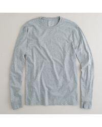 J.Crew | Gray Slim Broken-in Long-sleeve T-shirt for Men | Lyst