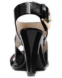 Michael Kors | Black Michael Carla Dress Sandals | Lyst
