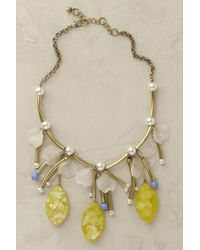 Anthropologie | Yellow Lemon Gloss Necklace | Lyst