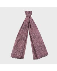 Paul Smith - Red Floral Windmill Print And Star Motif Scarf for Men - Lyst