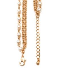 Forever 21 - Metallic Faux Pearl Layered Necklace - Lyst