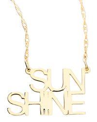 Jennifer Zeuner | Metallic 18k White Gold Vermeil Sunshine Necklace | Lyst