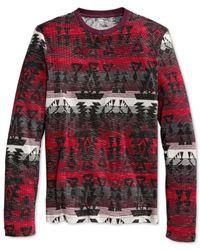 American Rag | Red Men's Beacon Slub Thermal T-shirt for Men | Lyst
