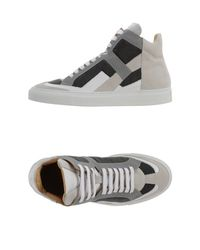 MM6 by Maison Martin Margiela - Gray High-tops & Trainers - Lyst