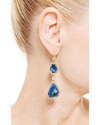 Nina Runsdorf | Blue One Of A Kind Star Sapphire and Diamond Earrings | Lyst
